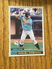 2000 Topps Traded Miguel Cabrera Baseball Rookie Card