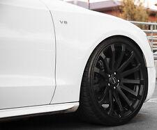"""20"""" MRR HR9 Wheels For Audi B8 S5 20X8.5 Inch Black Rims Set (4)"""