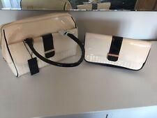 Bnwt Womens Ladies Ted baker Black Cream Ted Baker Enamel Bowler Bag Purse New