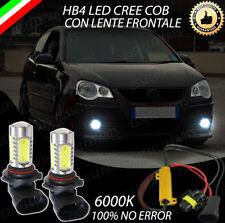 COPPIA LAMPADE FENDINEBBIA HB4 LED CREE COB CANBUS VW POLO 9N3 NO AVARIA LUCI