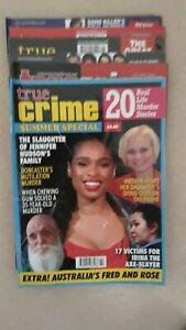 True crime magazines bundle