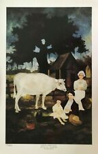 RODRIGUE SAGA OF THE CAJUNS -LIFE IN A NEW LAND-NUMBERED LIMITED 14 X 21 1/2 COA