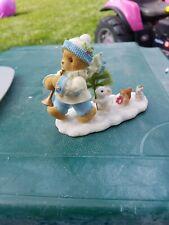 Cherished Teddies: Kerry Sparkly Snow Winter 118378. 2004 Enesco Bear Figurine.