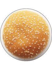 "Novelty Burger Bun Top 7.5"" Edible Wafer Paper Cake Topper"
