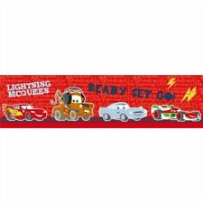 Disney Pixar Cars Red Self Adhesive Kids Childrens Border Wallpaper
