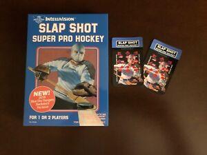 Intellivision Slap Shot Super Pro Hockey Box and Overlays (without cartridge)