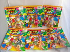 Complete Set Of STONE ERA Flintstones KO Bootleg Action Figures Toys 1980's MOC