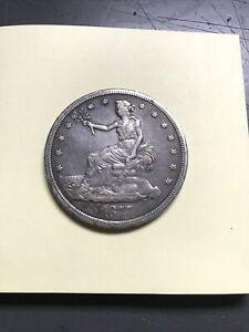 """1877 US Trade """"Opium"""" Dollar L@@K!"""