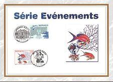 MONACO CEF PREMIER JOUR 2000 TIMBRE  N° 2268 . 2271 POISSON AQUARIUM