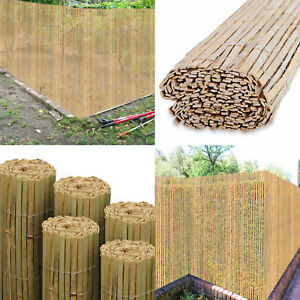 4M Bamboo Slat Natural Garden Screening Fencing Fence Panel Privacy Screen Roll.