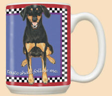 Doberman Pincher Ceramic Coffee Mug Tea Cup 15 oz