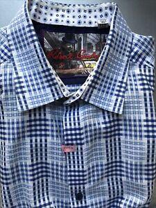 Robert Graham Blue & White Check Shirt XXXL Button Down