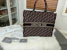 Authentic Christian Dior Book Tote NEW Oblique Bordeaux bag