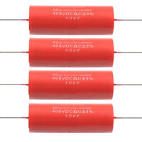 4PCS 1uf,400V Tubular Red Audio Amplifier Circuits Audiophiler MKP Capacitor DIY
