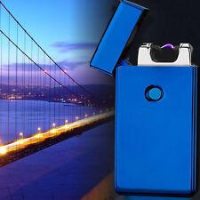 Blau Arc Lighter Lichtbogen Elektrisch Feuerzeug USB Regenbogen Plasma Sturm Neu