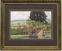 Hans Klatt: Garten am Solling. Kunstdruck gerahmt