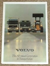 1980 VOLVO CORPORATION Sales Brochure - Company Profile, Factories, History