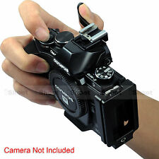 Vertical Quick Release Plate Camera Bracket Grip Thumb Button for Olympus E-M10