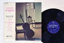 JANOS STARKER BACH CELLO SUITES NO.1&3 COLUMBIA RL 3102 Japan FLIPBACK COVER LP