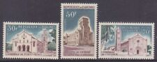 Dahomey 212-14 Mnh 1966 Cathedrals Set of 3 Very Fine