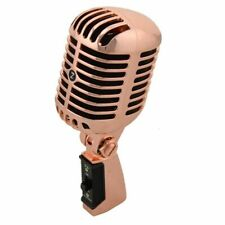 Vintage Microphone Professional Wired Dynamic Moving Coil Metal Vocal Old Style