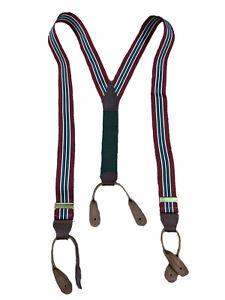 Vintage Polo Ralph Lauren Red & Green Striped Braces