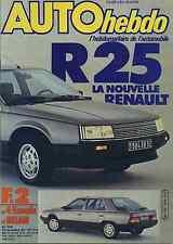 AUTO HEBDO n°396 24/11/1983 BILAN F2 RENAULT 25