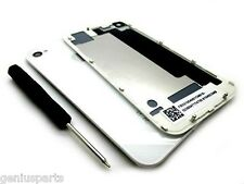 New White For iPhone 4 Battery Cover Back Door Replacement Rear Glass Complete