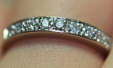 Handmade 1/3 CTW 14K White Gold Diamond Wedding Comfort Fit Band Vintage Ring