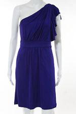 Laila Azhar Purple Stretch One Shoulder Above Knee Length Dress Size Medium