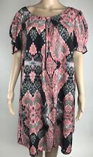 Marks & Spencer Dress 20 Womens Short Sleeve Print Tunic Shift UK 24 M&S