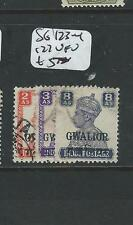 INDIA GWALIOR (P0704BB4) KGVI  SG 123-4,   127   VFU