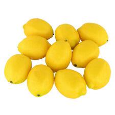 10pcs Mini Artificial Fake Fruit Yellow Lemons Simulation Fruit Decorations