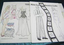 Vtg Paper Dolls 1971 Veronica Lake Alan Ladd Movie Star by Marilyn Henry Lot!