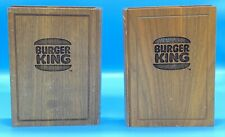 Unique Hand Made Burger King Book Ends