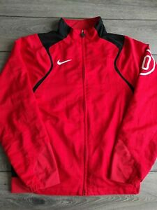 Men's Nike 90 Series Red Long Sleeve Zip Up Polyester Track Top Size S