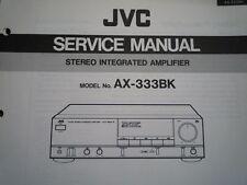 JVC AX-333BK AMPLIFICATORE servizio manuale parti di Cablaggio Diagramma di Manutenzione Riparazione