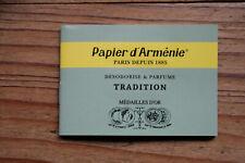 Véritable Papier d'Arménie désodorisant naturel, carnet triple