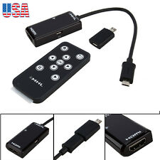 For Samsung Tab 3 8.0 10.1 Note 8 Mega 5.8 6.3 S2 S4 NOTE 2 MHL to HDMI remote H