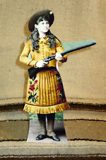 Annie Oakley Western Sharpshooter Tabletop Display Standee From Actual Photo
