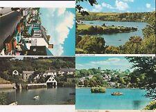 4 Postcard Heston Helford Village Meneage street Boating pool estuary