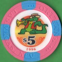 $5 Casino Chip from 1996 from the Orleans Hotel & Casino in Las Vegas, Nevada