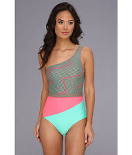 NWT BODY GLOVE ONE SHOULDER MOCHACHINO TILT SWIMSUIT ONE-PIECE XS XSMALL   SFS