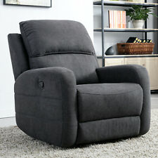 Fabric Manual Recliner Chair Contemporary Reclining Lounge Sofa Living Room