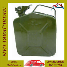 NEW 5 L LITER JERRY METAL CAN FOR PETROL DIESEL OIL FUEL WATER CONTAINER
