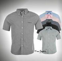 Mens Designer Pierre Cardin Lightweight Patterned Short Sleeve Shirt Top