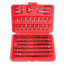 100pc. SECURITY TAMPER PROOF BIT SET,TORQ,HEX,SPANNER,TRI WING, GREAT 4 TECHS.