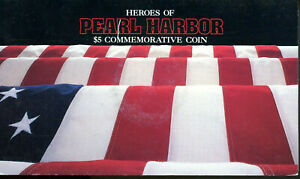 Heroes of Pearl Harbor $5 Coin - 1991 Marshall Islands
