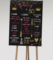 Printable 21st / 30th Personalised First Birthday Party Milestone Board