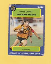 1990 Stimorol Rugby League Trading Card #15 James Grant Balmain Tigers
